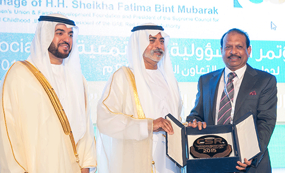 LuLu Hypermarket felicitated at the 3rd GCC – CSR Conference