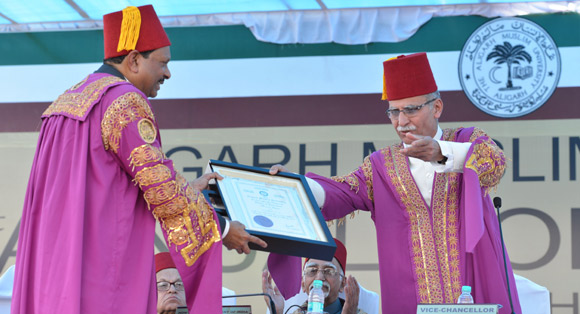 Aligarh Muslim University confers Yusuff Ali with D. Litt. at 61st Annual Convocation Ceremony