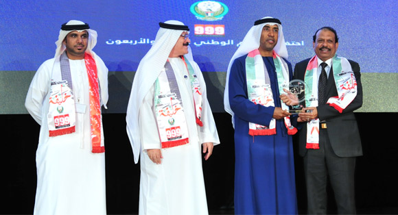 Yusuff Ali M.A. bestowed with the 'Khalifa: Our Pride' Award