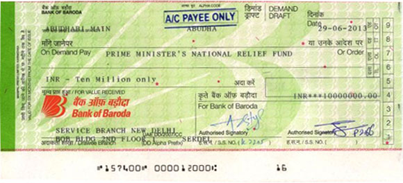 Yusuff Ali M.A. donates generously towards Uttarakhand Flood Relief