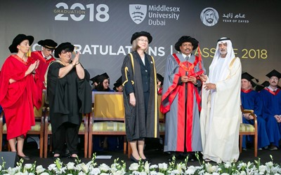 Yusuff Ali M.A. Receives Honorary Doctorate from Sheikh Nahyan Bin Mubarak Al Nahyan at Middlesex University